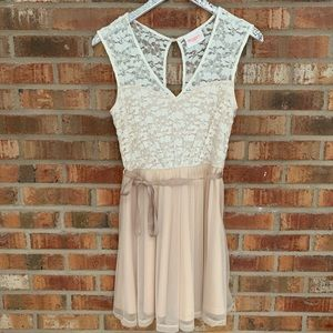 Champagne & Lace Cocktail Dress